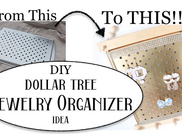 DIY IDEA FUN JEWELRY EARRINGS ORGANIZER | Dollar Tree diy