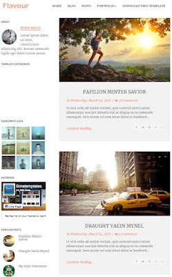 Flavour Adsense Responsive Blogger Templates Without Footer Credit