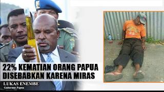 Bikin Punah Orang Papua, Gubernur Lukas Ngamuk, Ancam Bakar Toko Penjual Miras