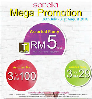 Sorella Lingerie Mega Promotion until Merdeka Day