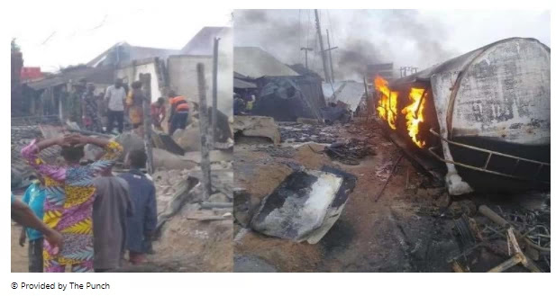 Niger tanker blast destroys more than 50 shops