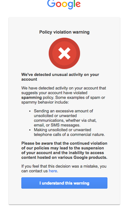 806d9043fdb9 Did your Google account get suspended or did Gmail bounce your emails