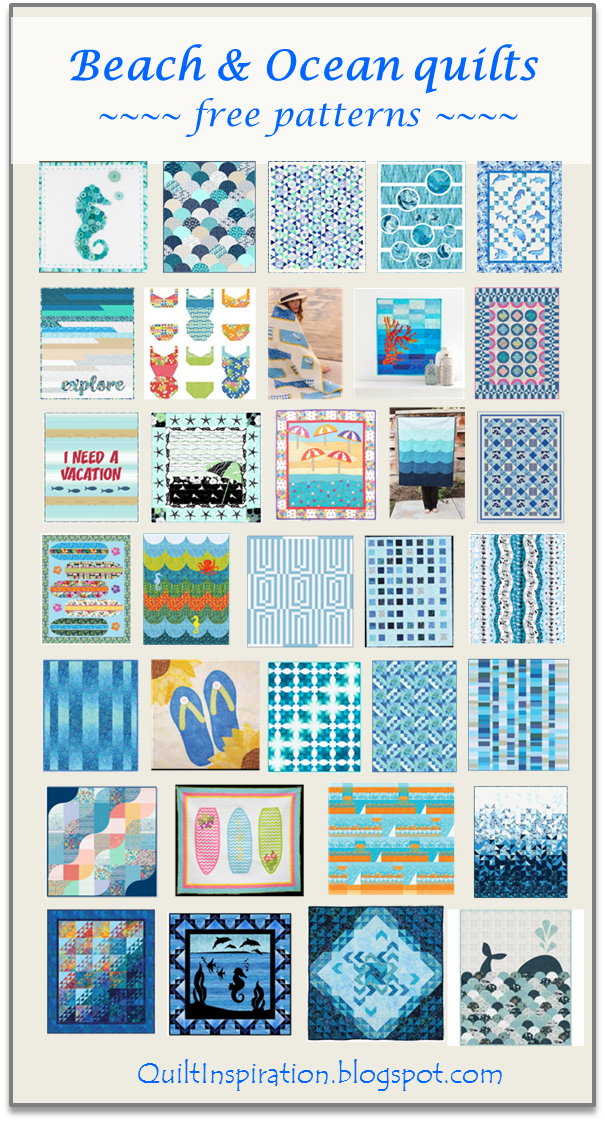 August Mini Quilt Pattern A Day At The Beach