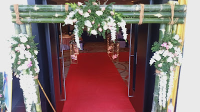 Natural Bamboo Entrance Stylish Decoration