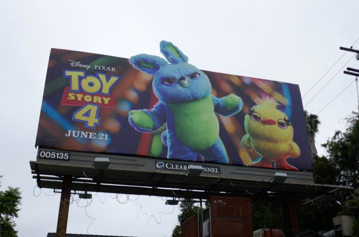 Toy Story 4 Bunny and Ducky billboard