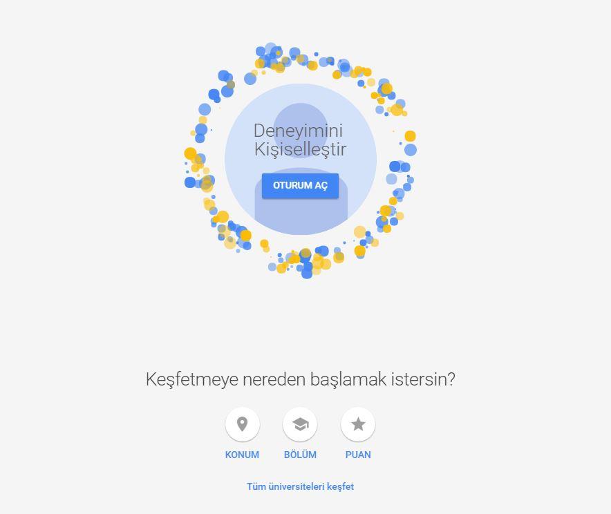 Google Dan Eba Destekli Universite Tercih Rehberi Bilisim