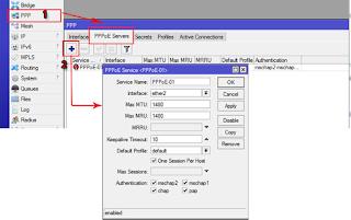 Aktifkan PPPoE Server