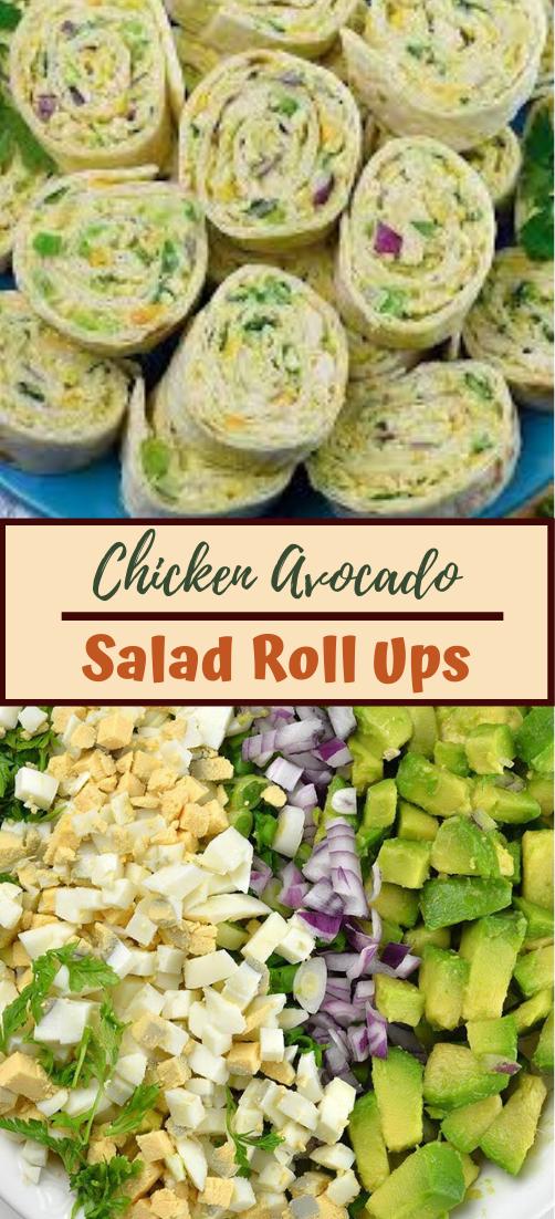 Chicken Avocado Salad Roll Ups #food #lunchrecipe #vegan #vegetarianrecipe #easyrecipe