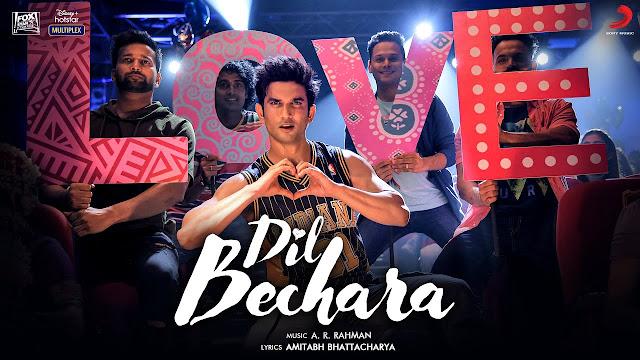 Dil Bechara song Lyrics - thelyricswaale.com
