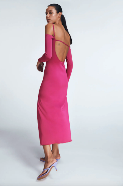 Zara Flowy Midi Dress