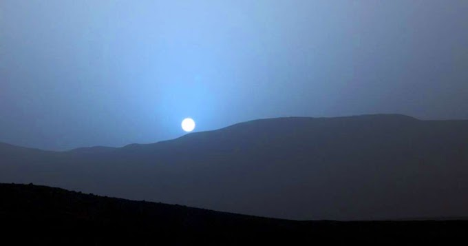 Why Mars has Blue Sunset?