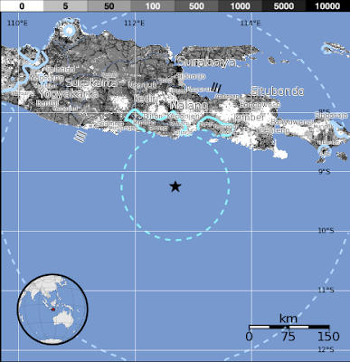 Epicentro sismo Java, Indonesia, 26 de Julio 2015