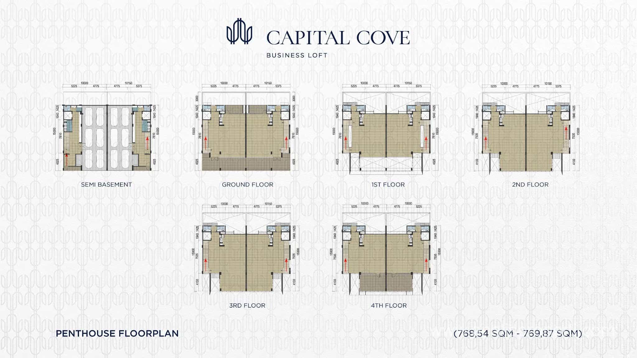 Denah Capital Cove Tipe Penthouse