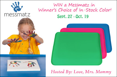 Enter the Messmatz Creativity Mat for Kids & Adults Giveaway. Ends 10/19