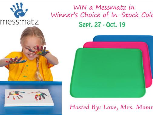 Messmatz Creativity Mat for Kids & Adults Giveaway