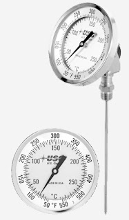 dial face bimetallic industrial thermometer with adjustable stem