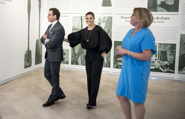 Crown Princess Victoria wore STYLEIN millie top black blouse Stylein, Sophie by Sophie Pyramid Hoops