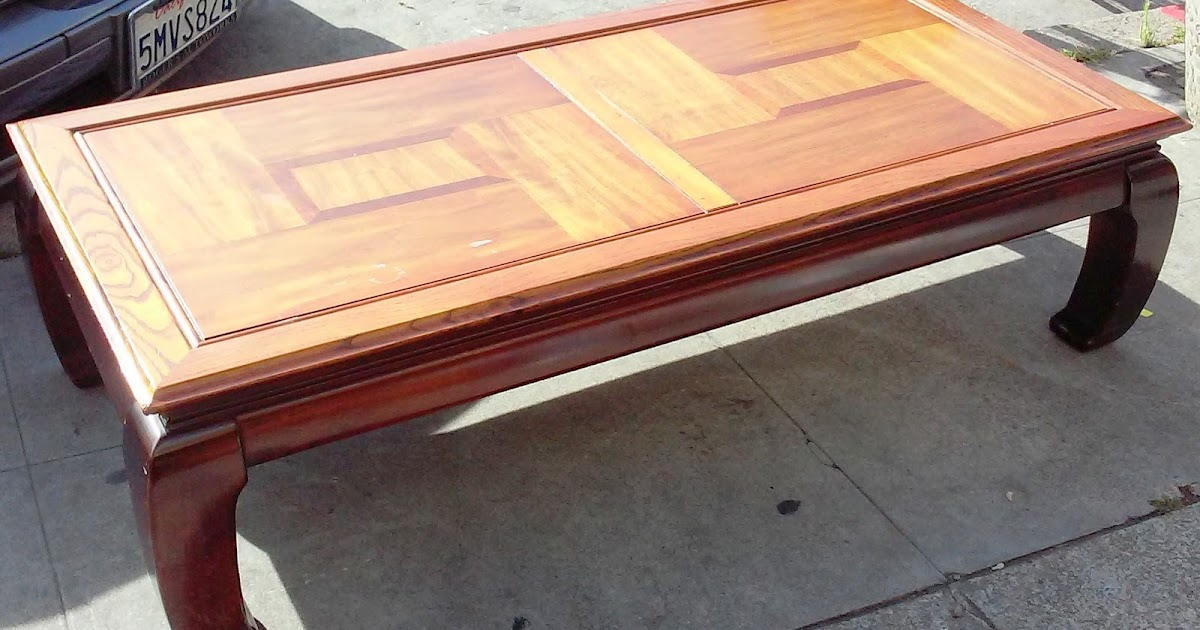 UHURU FURNITURE COLLECTIBLES SOLD Chow Style Coffee Table 50 .