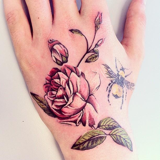 Gambar Tato Bunga Di Tangan Paling Keren Intip Disini
