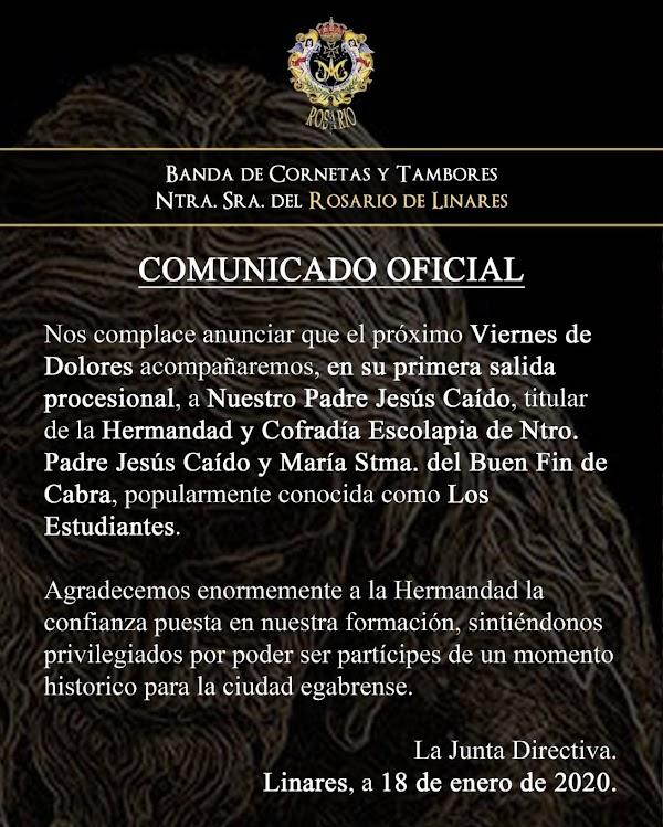 CCTT Rosario de Linares estará en Cabra el Viernes de Dolores