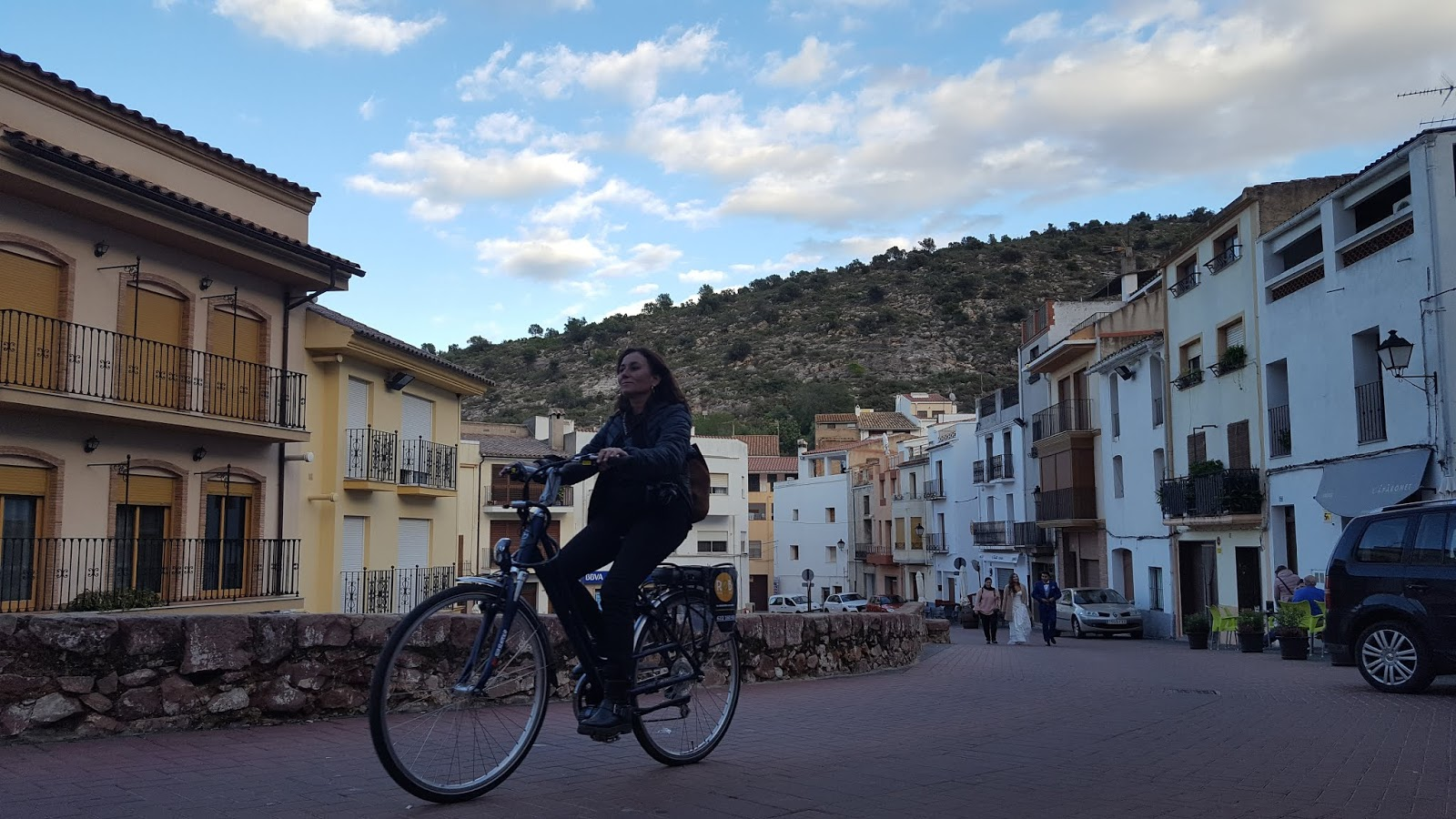 Ebike riding in Villafamés, in the province of Castellón