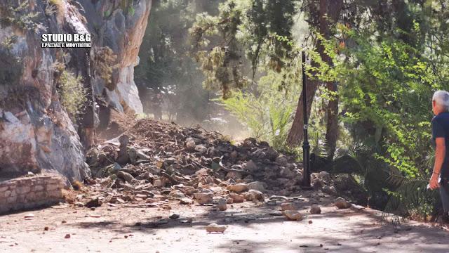 Έκτακτο: Μεγάλη κατολίσθηση στον γύρο της Αρβανιτιάς στο Ναύπλιο (βίντεο)