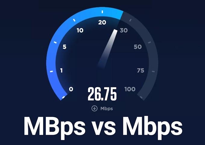 MBps සහ Mbps අතර වෙනස.