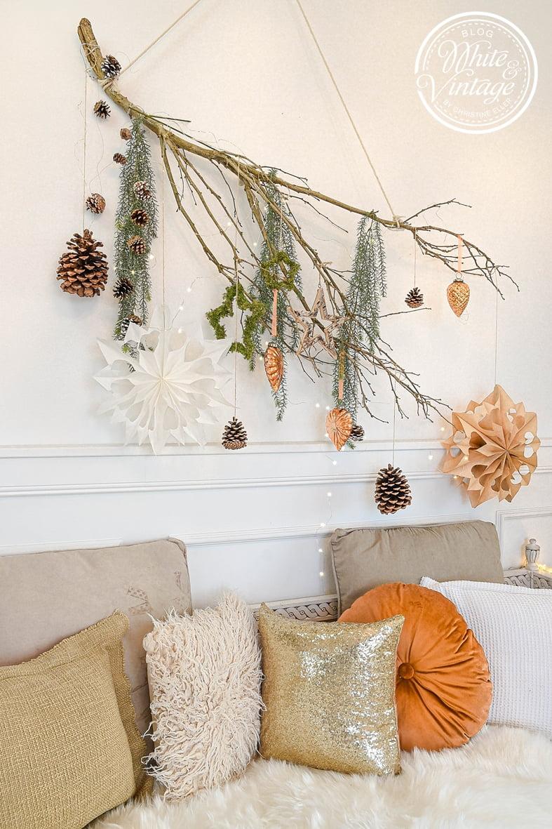 DIY-Anleitung weihnachtliche Wanddeko