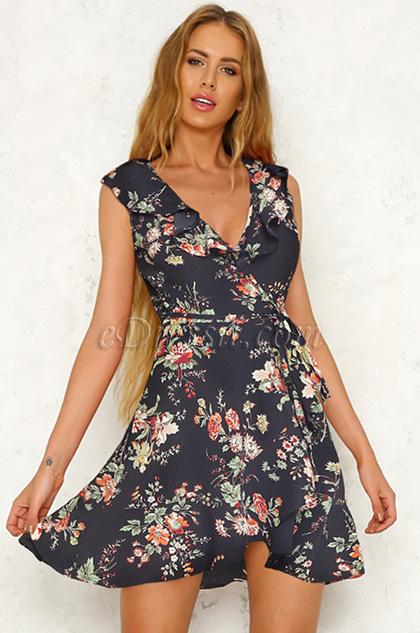 Sexy Printed Day Dress Summer Dress
