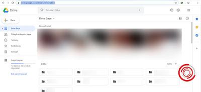 2. Nanti akan langsung ke halaman utama Google Drive milik kalian