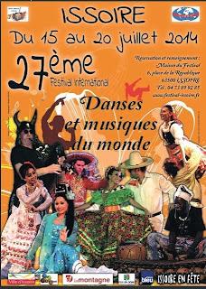 Festival International de danse et musique du monde, Issoire 2014