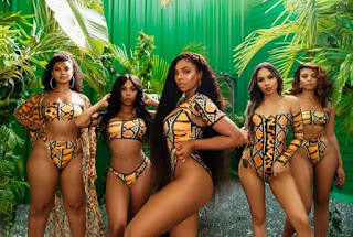 Sexy Ashanti flaunts her hot body physique in swimwears (photos)