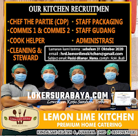 Bursa Kerja Surabaya di Lemon Lime Kitchen Oktober 2020