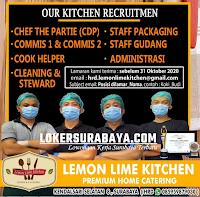 Bursa Kerja Surabaya di Lemon Lime Kitchen Oktober 2020