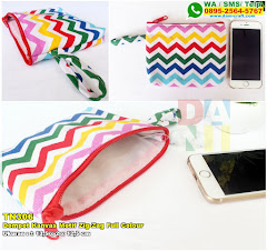 Dompet Kanvas Motif Zig-Zag Full Colour