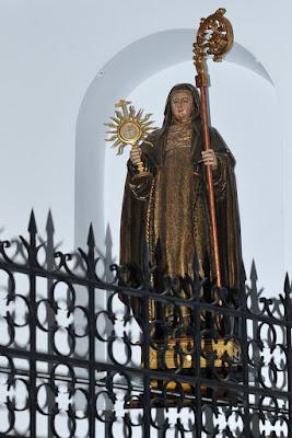 Santa Clara en las Clarisas de Villaviciosa, Asturias