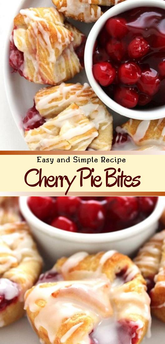 Cherry Pie Bites #desserts #cakerecipe #chocolate #fingerfood #easy