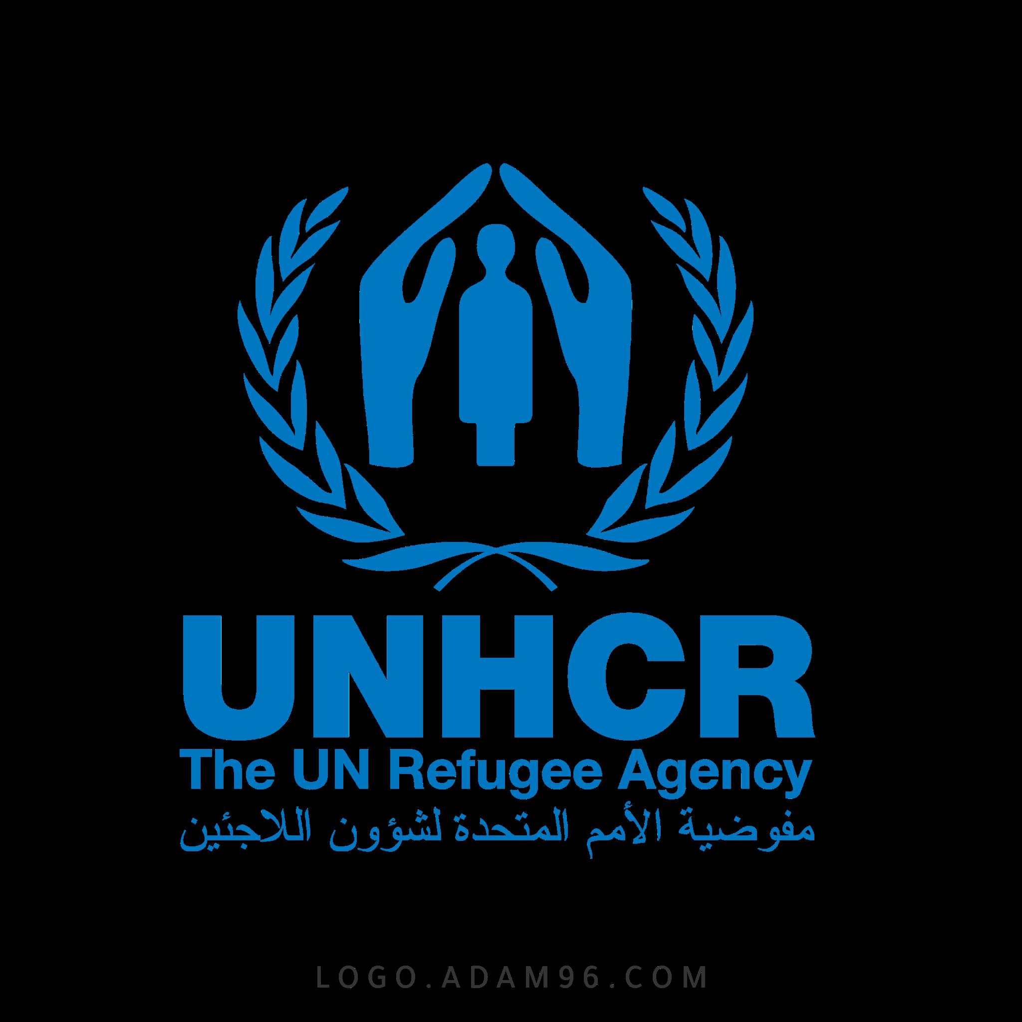 تحميل شعار مفوضية الامم المتحدة لشئون اللاجئين لوجو رسمي PNG
