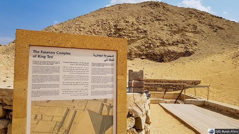 Pirâmide de Teti em Saqqara, Egito - pirâmide egípcia