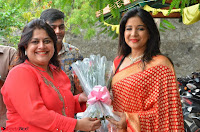 Sakshi Agarwal  in Orange Saree at Inauguration of Handloom And Handicraft exhibition ~  Exclusive 05.JPG