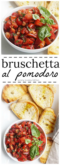An easy recipe for authentic Italian tomato bruschetta.