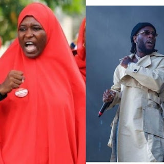 Any celebrity that messes up is going to be called out, if you have a problem with it take a dive anywhere - Activist, Aisha Yesufu slams Burna Boy (video)