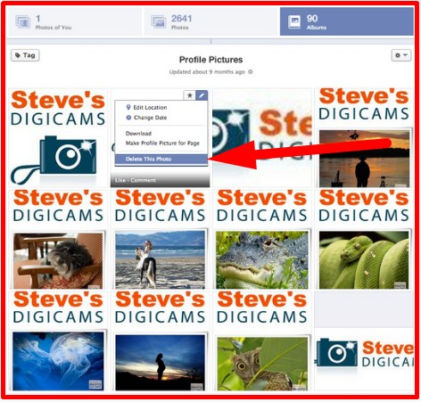 how to delete all photos on facebook profile