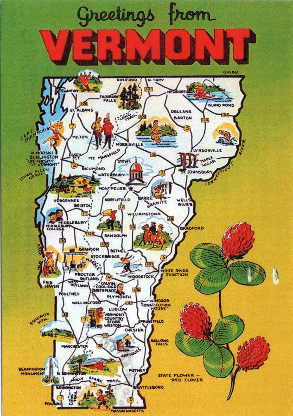 WORLD COME TO MY HOME  UNITED STATES Vermont Vermont Map - Us map vermont