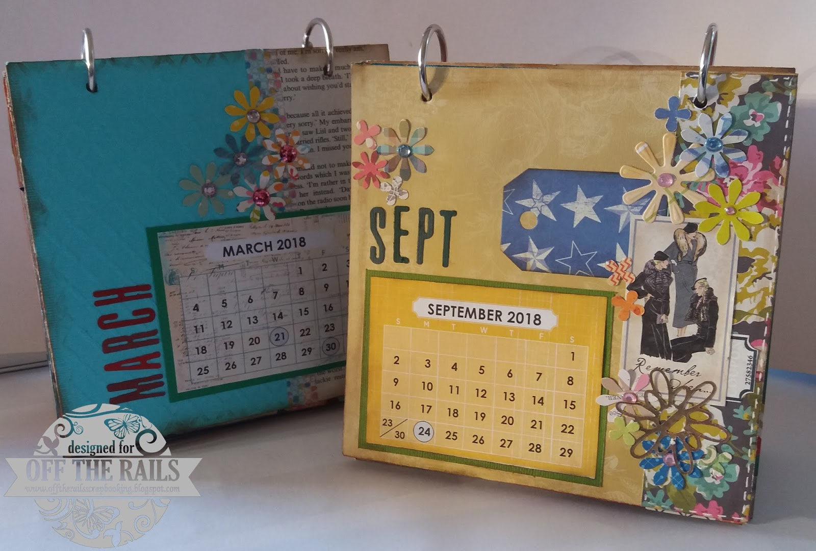 off the rails scrapbooking calendar tutorial with cathy