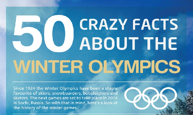 50 Crazy Facts About The Winter Olympics #infographic
