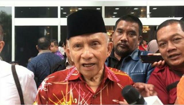 Amien Rais Jawab Isu Kritik Jokowi agar Anaknya Jadi Menteri: Gundulmu!