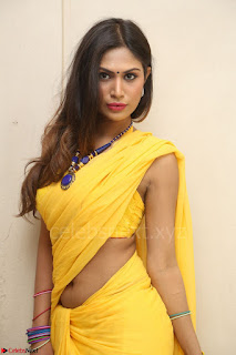 Nishigandha in Yellow backless Strapless Choli and Half Saree Spicy Pics 124.JPG