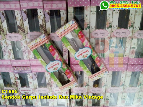 Jual Sendok Garpu Include Box Mika Vintage
