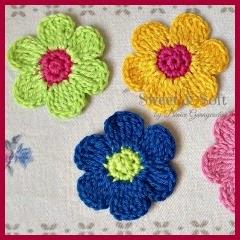 Flor de 6 pétalos a crochet
